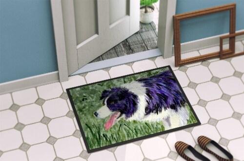Carolines Treasures  SS8843MAT Border Collie Indoor or Outdoor Mat 18x27 Doormat Perspective: back