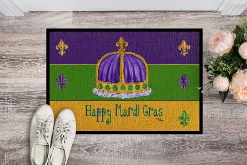 Carolines Treasures  8385JMAT Mardi Gras Indoor or Outdoor Mat 24x36 Doormat Perspective: back