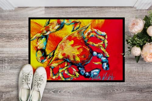 Carolines Treasures  MW1086MAT Crab Hot Dang Indoor or Outdoor Mat 18x27 Doormat Perspective: back