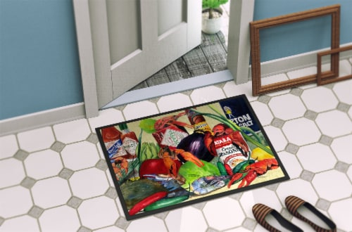 Carolines Treasures  1020JMAT Spices and Crawfish Indoor or Outdoor Mat 24x36 Do Perspective: back