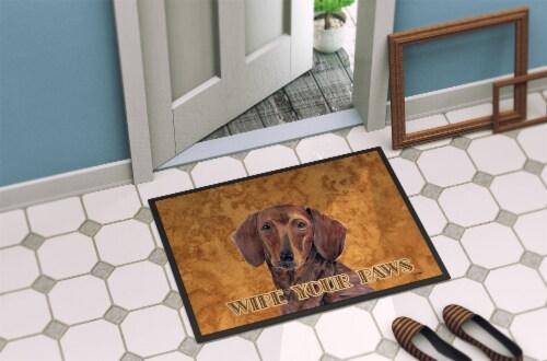 Carolines Treasures  SC9137JMAT Dachshund Indoor or Outdoor Mat 24x36 Doormat Perspective: back