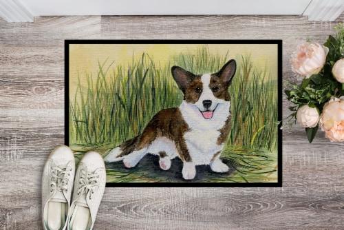Carolines Treasures  SS8004JMAT Corgi Indoor or Outdoor Mat 24x36 Doormat Perspective: back