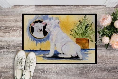 Carolines Treasures  SS8135JMAT Bull Terrier Indoor or Outdoor Mat 24x36 Doormat Perspective: back