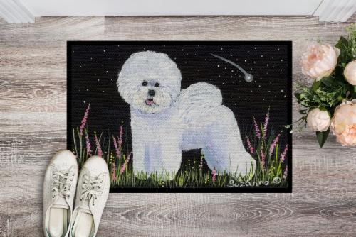 Carolines Treasures  SS8143JMAT Bichon Frise Indoor or Outdoor Mat 24x36 Doormat Perspective: back