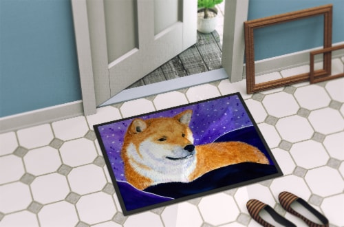 Carolines Treasures  SS8417JMAT Shiba Inu Indoor or Outdoor Mat 24x36 Doormat Perspective: back