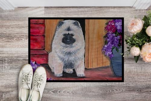Carolines Treasures  SS8622JMAT Keeshond Indoor or Outdoor Mat 24x36 Doormat Perspective: back