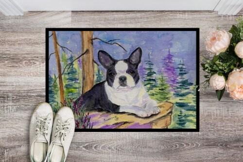 Carolines Treasures  SS8638JMAT Boston Terrier Indoor or Outdoor Mat 24x36 Doorm Perspective: back