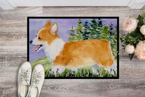 Carolines Treasures  SS8912JMAT Corgi Indoor or Outdoor Mat 24x36 Doormat Perspective: back