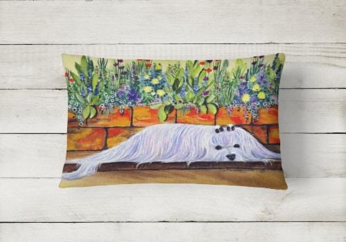 Carolines Treasures  SS8248PW1216 Maltese Decorative   Canvas Fabric Pillow Perspective: back