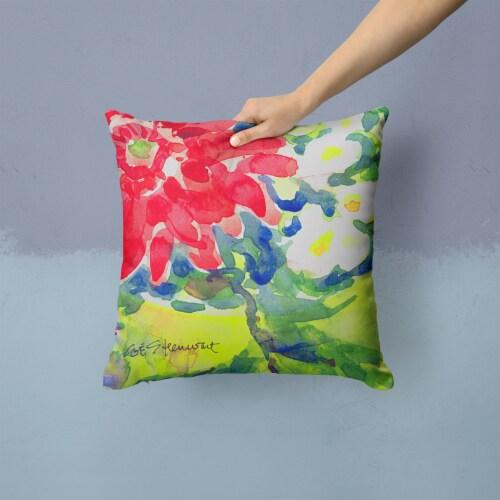 Carolines Treasures  6126PW1414 Flower Decorative   Canvas Fabric Pillow Perspective: back