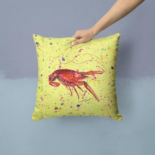 Carolines Treasures  8451PW1414 Crawfish Decorative   Canvas Fabric Pillow Perspective: back