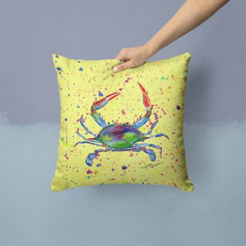Carolines Treasures  8452PW1414 Crab Decorative   Canvas Fabric Pillow Perspective: back