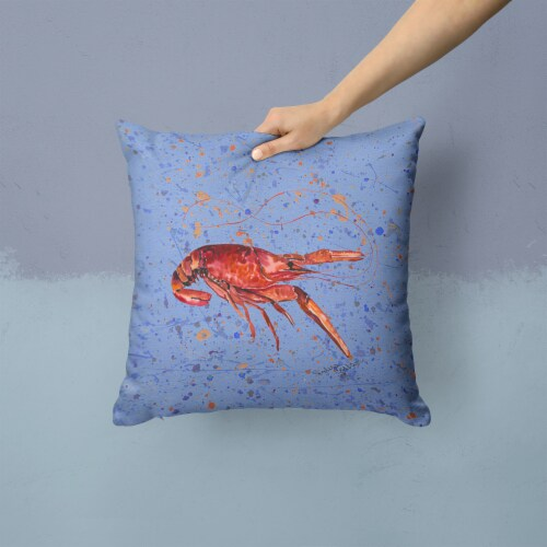 Carolines Treasures  8458PW1414 Crawfish Decorative   Canvas Fabric Pillow Perspective: back