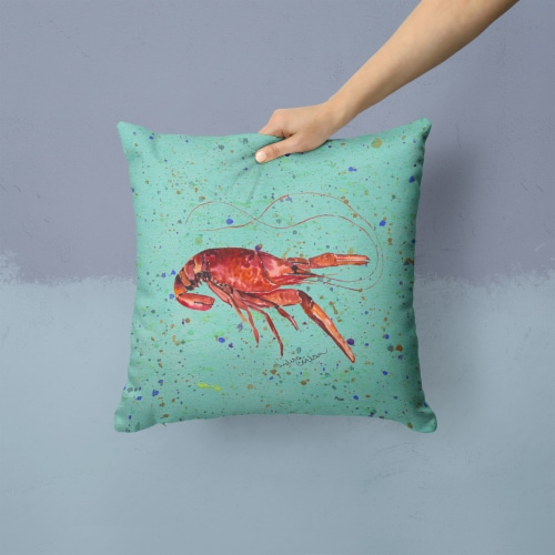 Carolines Treasures  8461PW1414 Crawfish Decorative   Canvas Fabric Pillow Perspective: back