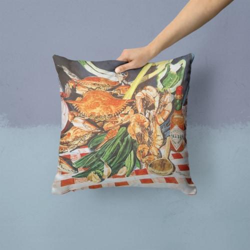 Carolines Treasures  8537PW1414 Crab Boil Decorative   Canvas Fabric Pillow Perspective: back