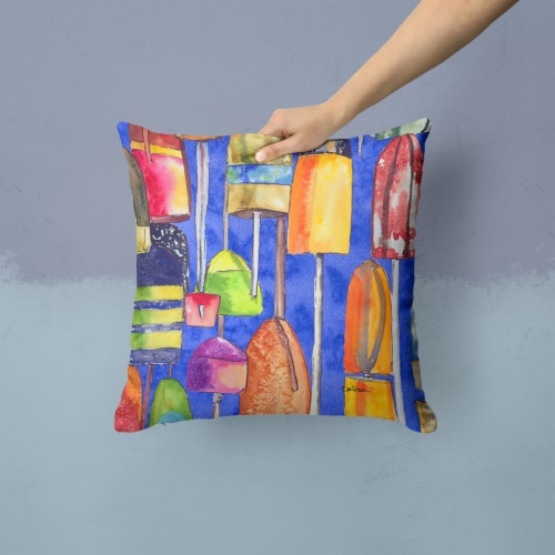 Carolines Treasures  8723-2PW1414 Lobster Bouys Decorative   Canvas Fabric Pillo Perspective: back