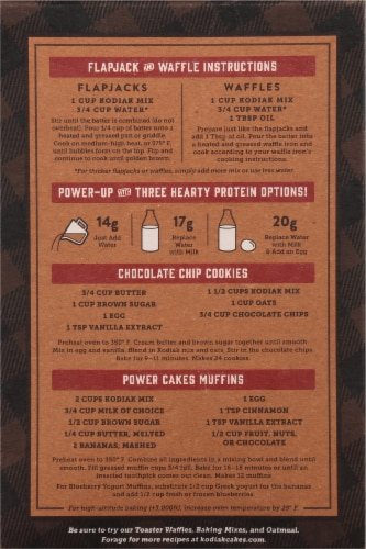 Kodiak Cakes Power Cakes Buttermilk Flapjack & Waffle Mix Perspective: back