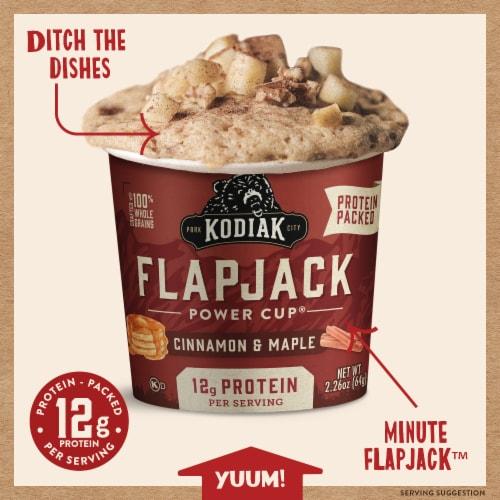 Kodiak Cakes Unleashed Cinnamon & Maple Flapjack Cup Perspective: back