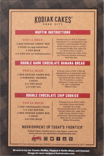 Kodiak Cakes Double Dark Chocolate Protein-Packed Muffin Mix Perspective: back
