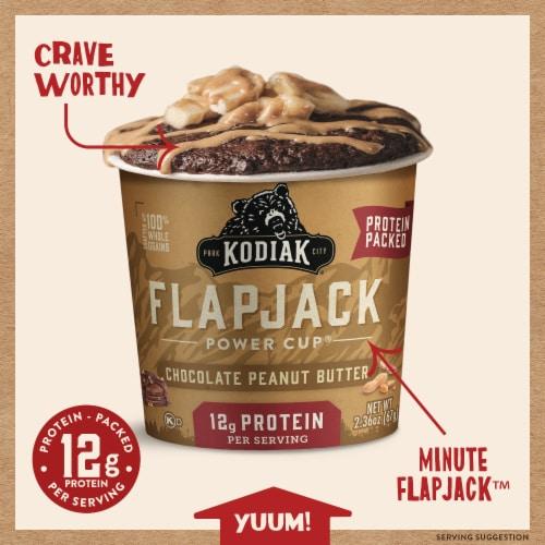 Kodiak Cakes Chocolate Peanut Butter Flapjack Power Cup Perspective: back