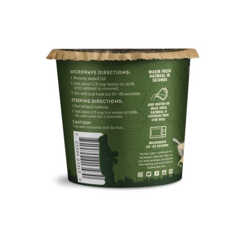Kodiak Cakes Maple Brown Sugar Protein Oatmeal Power Cup Perspective: back