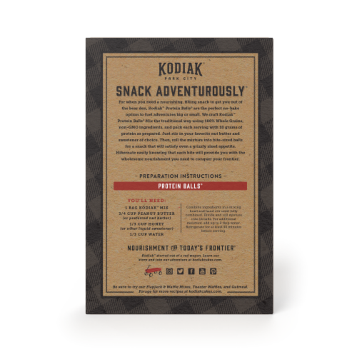 Kodiak Cakes Oatmeal Chocolate Chip Protein Ball Mix Perspective: back
