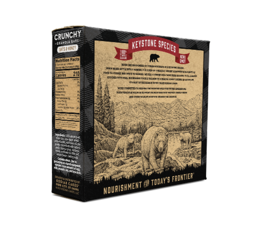Kodiak Cakes Protein-Packed Oats and Honey Crunchy Granola Bars Perspective: back