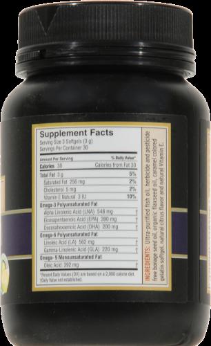Barlean's Total Omega 3-6-9 Fish Oil Caplets Perspective: back