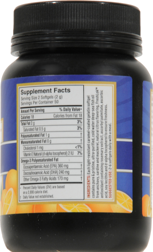 Barlean's Fish Oil Softgels 1000mg Perspective: back
