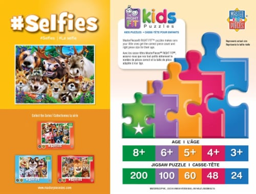 Selfies Woodland Wackiness 200 Piece Jigsaw Puzzle Perspective: back