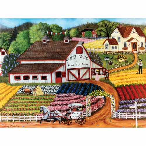 MasterPieces Homegrown Fresh Flowers Puzzle Perspective: back