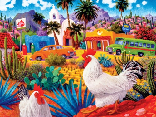 MasterPieces Roadsides of the Southwest Gallos Blancos Puzzle Perspective: back