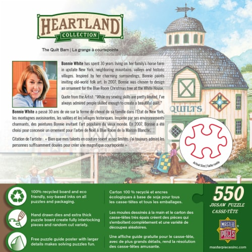 MasterPieces Heartland Collection The Quilt Barn Puzzle Perspective: back