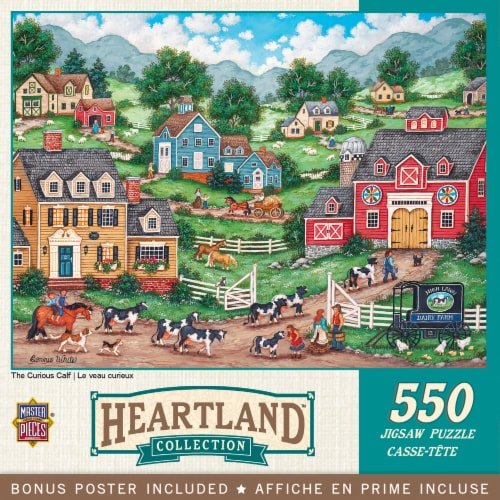 MasterPieces Heartland Collection The Curious Calf Puzzle Perspective: back
