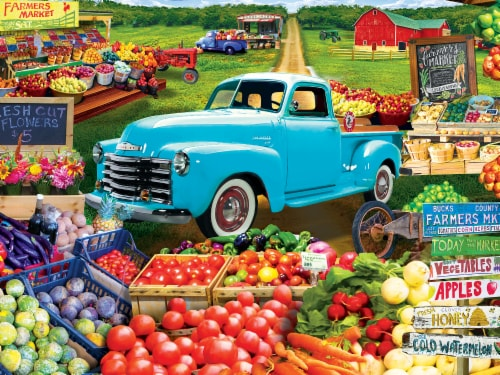 MasterPieces Farmer's Market Locally Grown Puzzle Perspective: back
