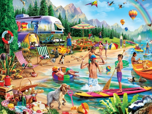 MasterPieces Campside Day at the Lake Puzzle Perspective: back