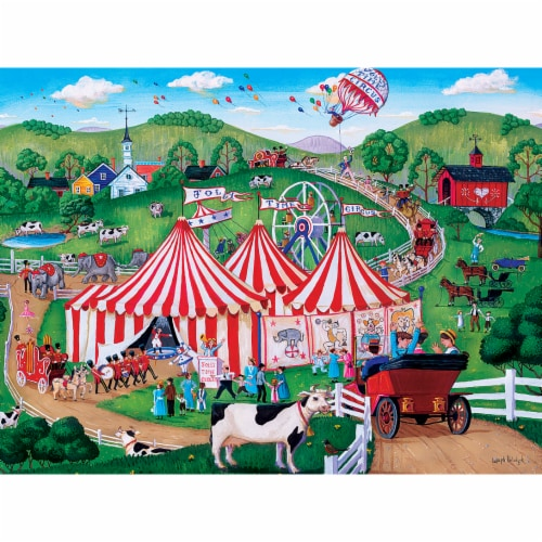 MasterPieces Town & Country - Jolly Time Circus 300pc EzGrip Puzzle Perspective: back