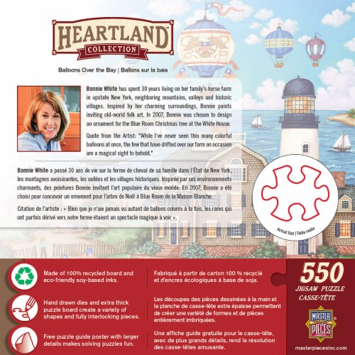 MasterPieces Heartland Balloons over the Bay Jigsaw Puzzle Perspective: back