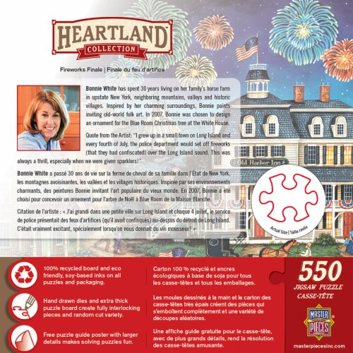 MasterPieces Heartland Puzzles Collection - Fireworks Finale 550 Piece Jigsaw Puzzle Perspective: back