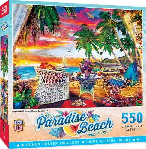 MasterPieces Paradise Beach Puzzles Collection - Paradise Breeze 550 Piece Jigsaw Puzzle Perspective: back