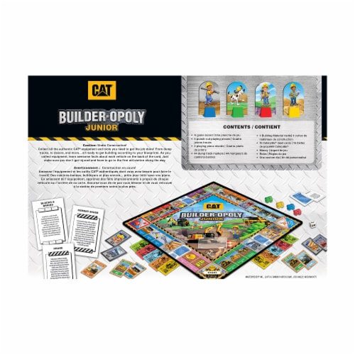 MasterPieces CAT Builder-opoly Junior Board Game Perspective: back
