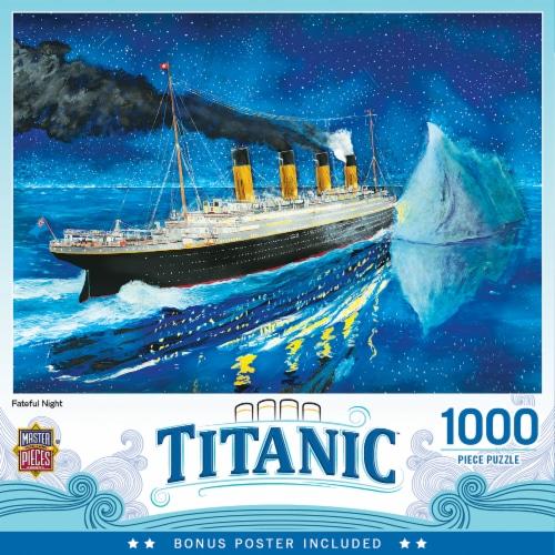 MasterPieces Titanic Series - Titanic At Sea Iceburg 1000 Piece Jigsaw Puzzle Perspective: back