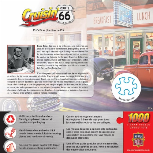 Cruisin Route 66 Phils Diner Jigsaw Puzzle Perspective: back