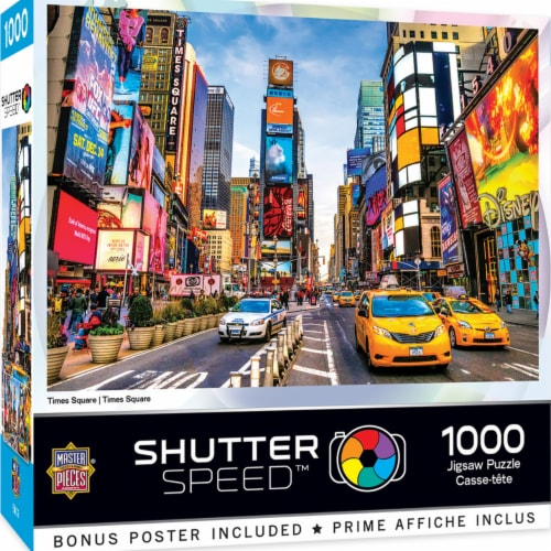MasterPieces Shutter Speed Times Square Jigsaw Puzzle Perspective: back