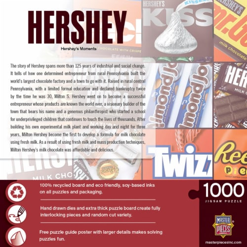 Hershey's Moments 1000 Piece Jigsaw Puzzle Perspective: back