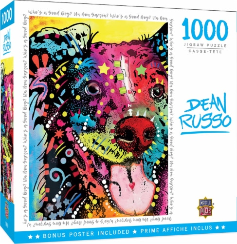 Dean Russo Whos a Good Boy? 1000 Piece Jigsaw Puzzle Perspective: back