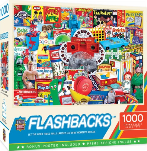 Master Pieces Flashback 1000 Piece Jigsaw Puzzle Perspective: back