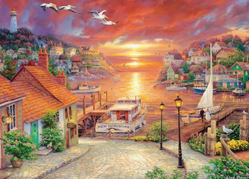 MasterPieces Art Gallery of Chuck Pinson New Horizons Puzzle Perspective: back