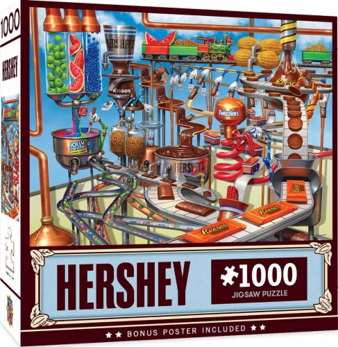 Hershey's Chocolate Factory 1000 Piece Jigsaw Puzzle Perspective: back
