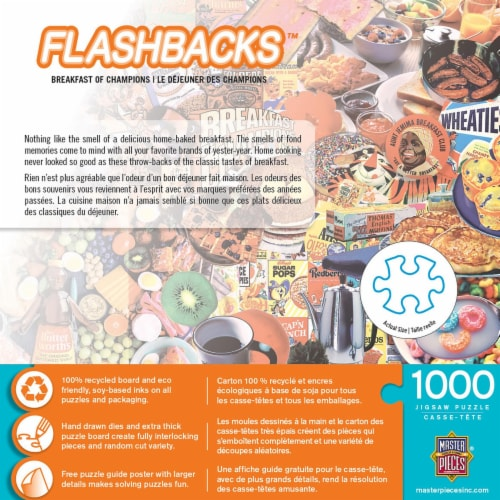 Flashbacks Breakfast of Champions Jigsaw Puzzle Perspective: back